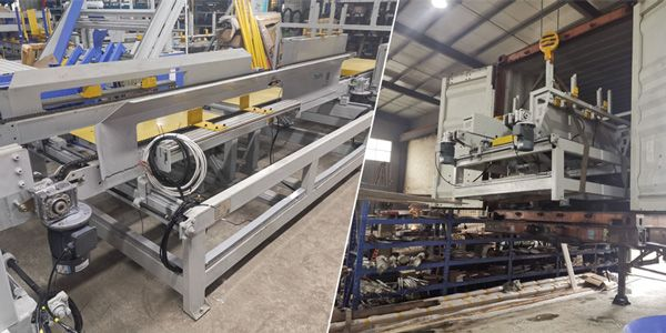 Wood pallet nailing production line