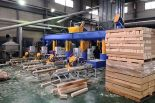 Automatic wood sawdust block production line installation in Korea