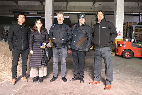 UK Clients Visited Presswood Pallet Machine on 16th Jan