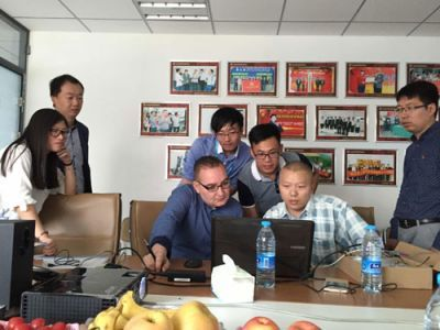 French customers visit our company