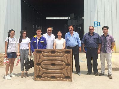 Iranian customer visited our presswood pallet making machine factory in June