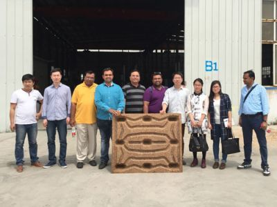 Indian Customer Visited Wood Pallet Making Machine Factory in April