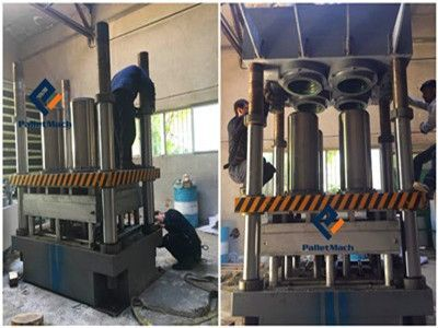Presswood Pallet Press Machine Installation in Iran