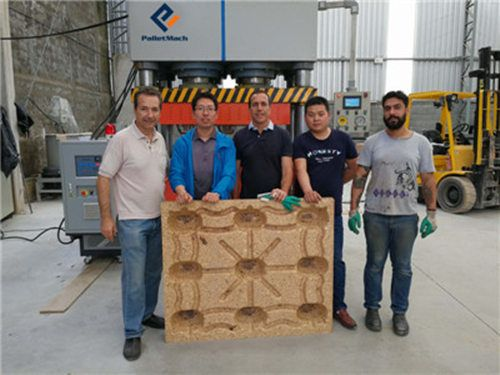 comminssioning of pressed wood pallet machine