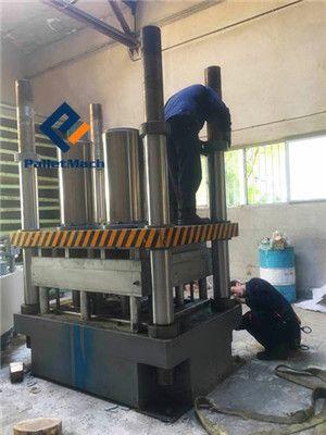 installation of presswood pallet press machine