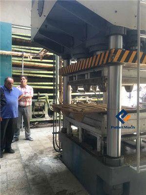 testing of presswood pallet making machine