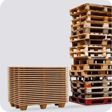 presswood pallet saving space