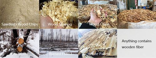 raw materials for wood pallet machine