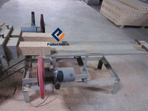 wood pallet block machine