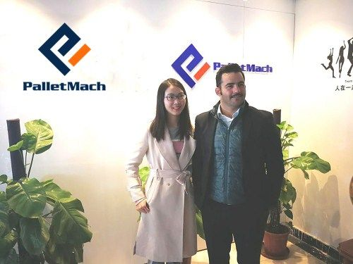 Italian client visited PalletMach