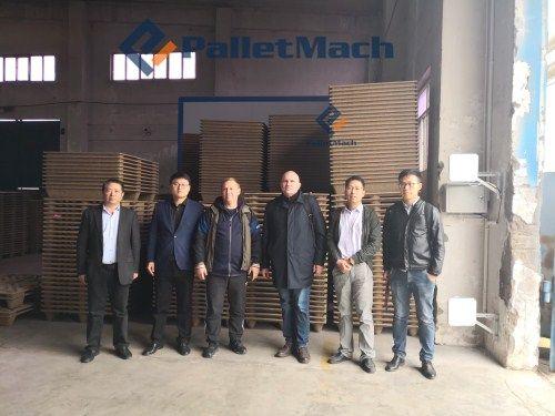 automatic presswood pallet production line