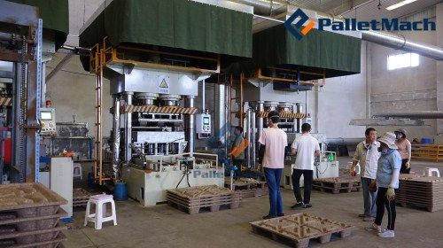 double-mould wood pallet production line